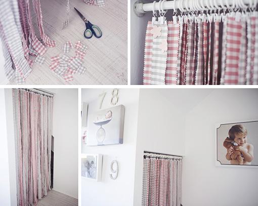 Diy una cortina hecha con tiras de tela mi cesta de - Como hacer cortinas de tiras ...