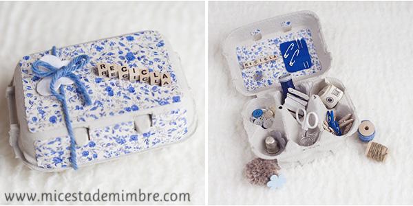 costurero mi cesta de mimbre Nosotras reciclamos ¿y tu?