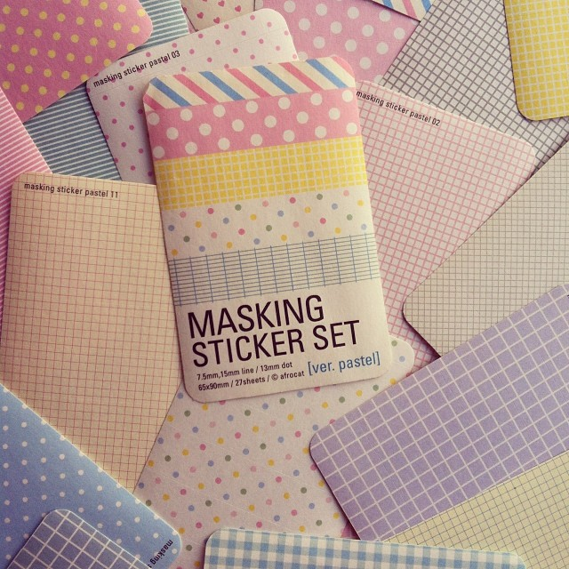 Pegatinas en tonos pastel para mi próximo álbum. Me encantan! #maskingstickerset #mcmbarbara